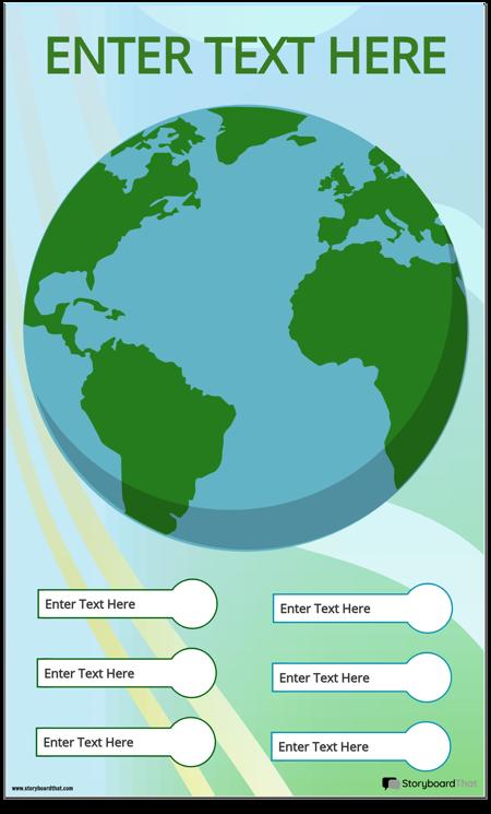 Země Infographic Šablona