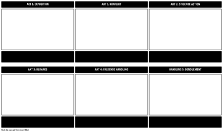 Fem-loven Struktur Play Diagram Skabelon