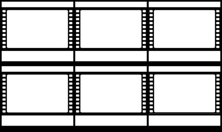Filmstrip Storyboard Skabelon