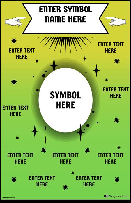 Matematisk Symbol Plakat