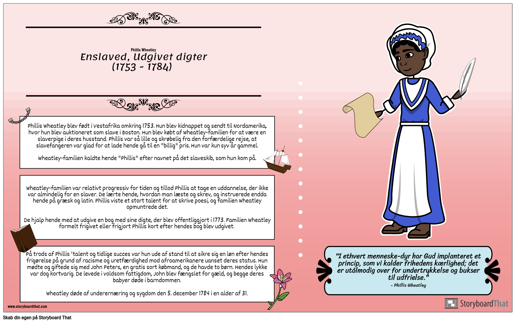 Slaveri: Phillis Wheatley