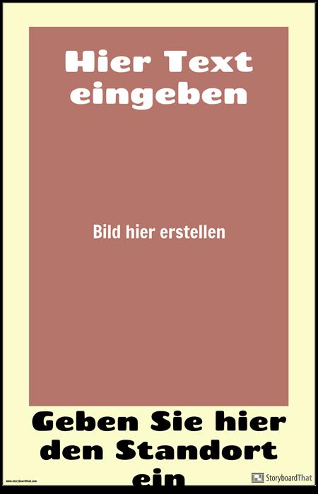 Altmodisches Reise-Plakat