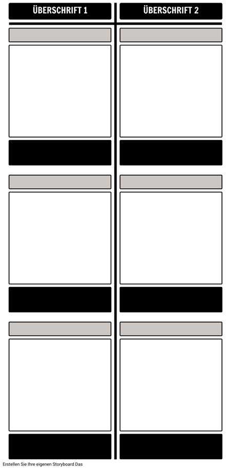 Blank Vergleich T-Chart