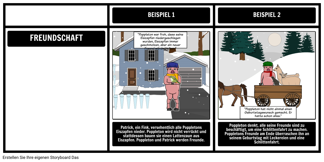 Poppleton im Winter - Thema