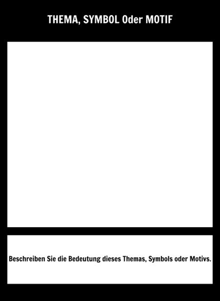 Symbol Quadratische Schablone