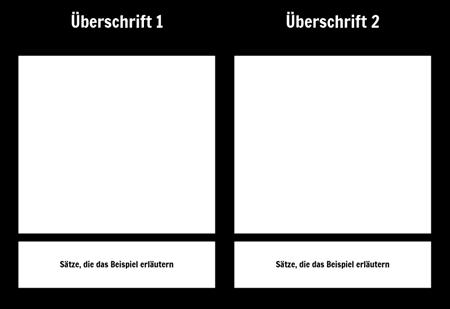 T-Chart mit Beschreibung 1 Zeile