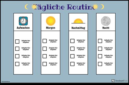 Tägliches Routine-Diagramm