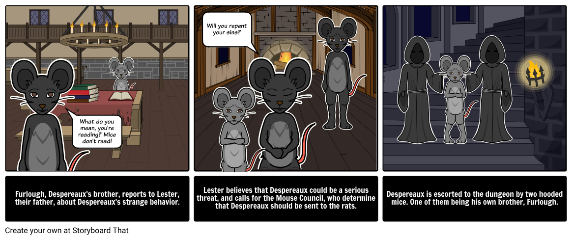 Tale of Despereaux - Event Analysis