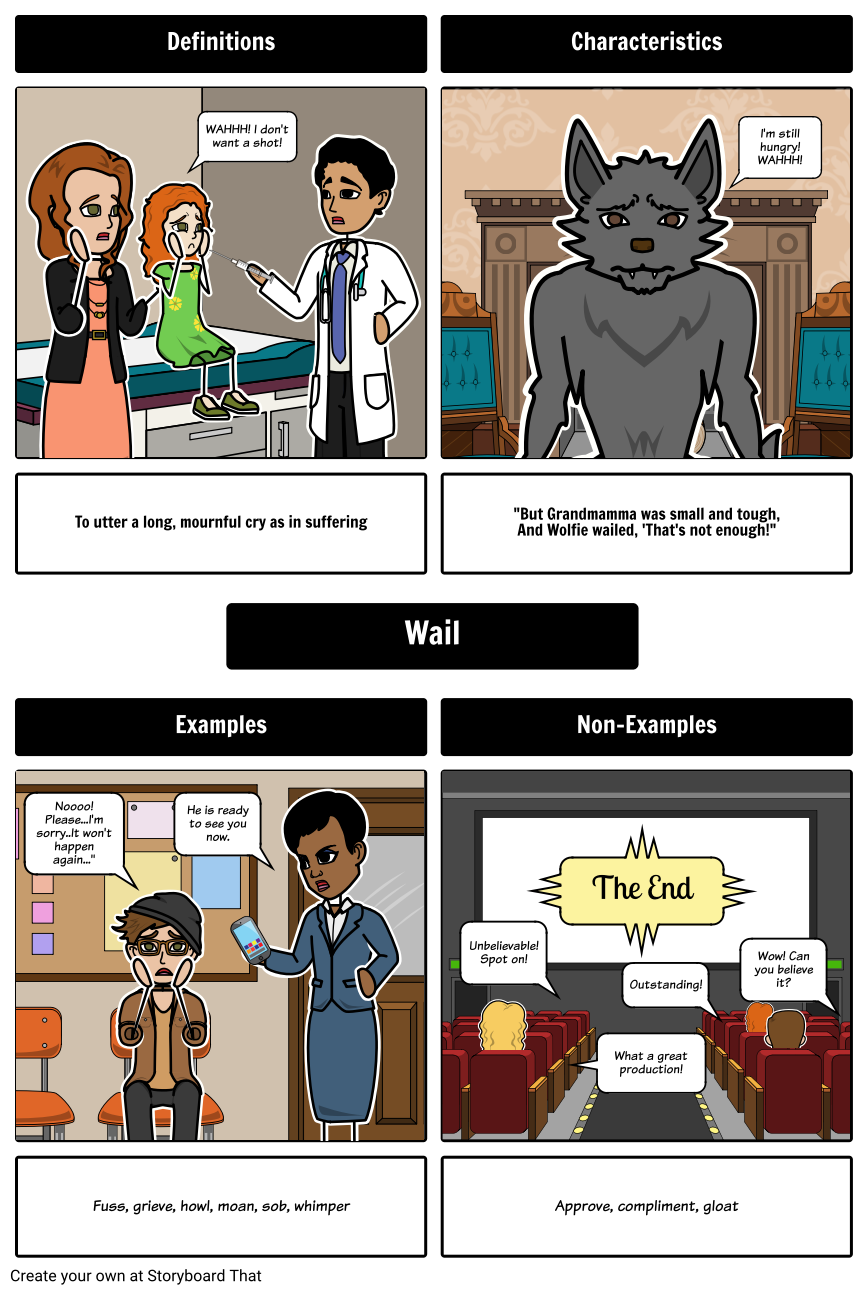 Little Red Riding Hood and the Wolf Vocabulary