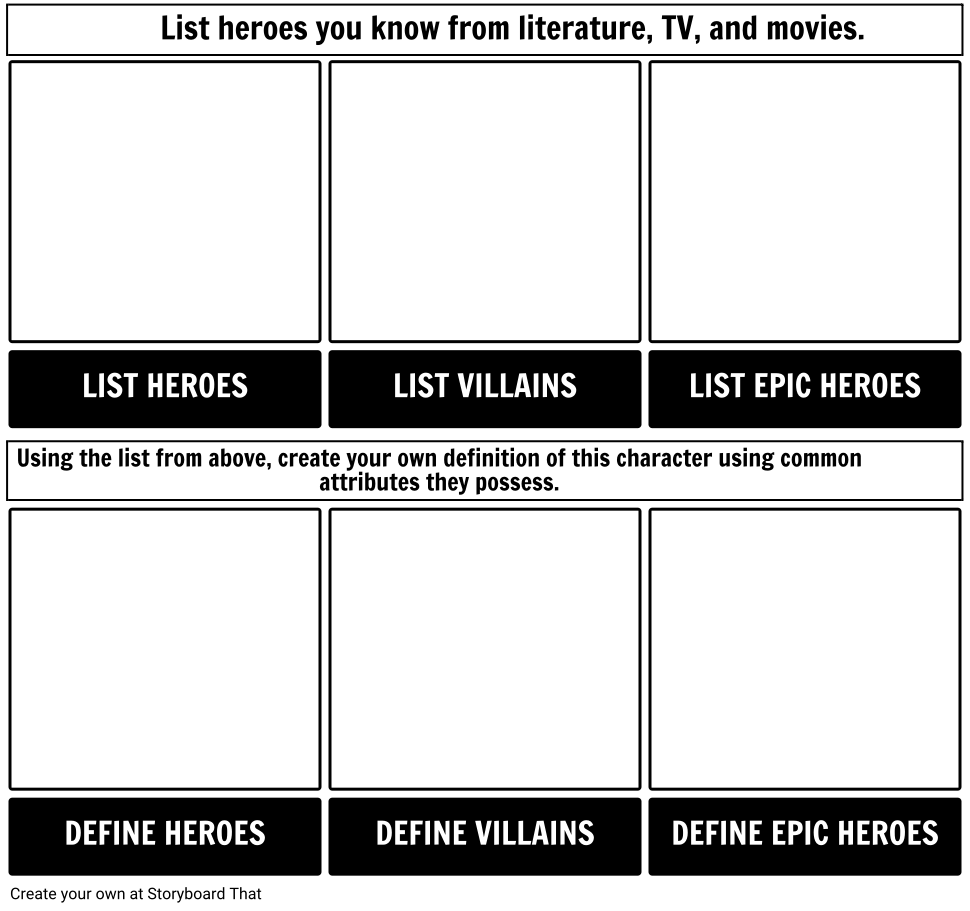 Epic Hero Activator Worksheet