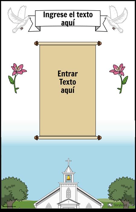 Cartel cristiano con desplazamiento