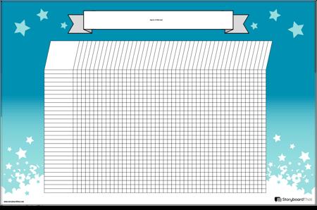 Cartel de Gráfico de Estudiante Horizontal
