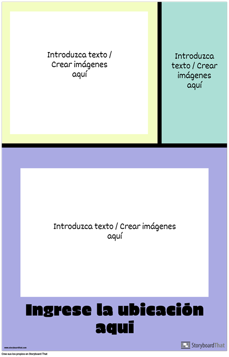 Cartel de Viaje de Bloques de Color
