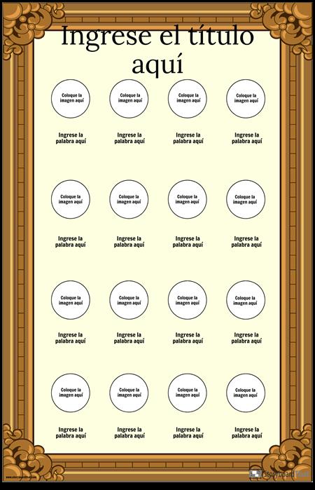 Cartel de Vocabulario Visual Enmarcado