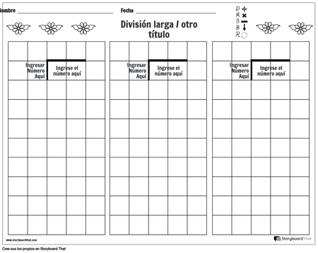 División Larga 8