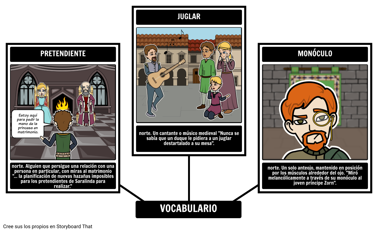 El Vocabulario de 13 Clocks