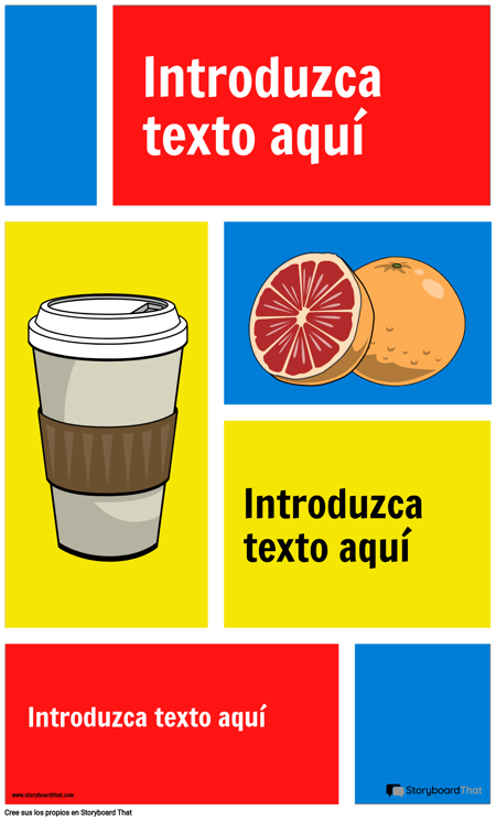 Infografía de Bloques de Color
