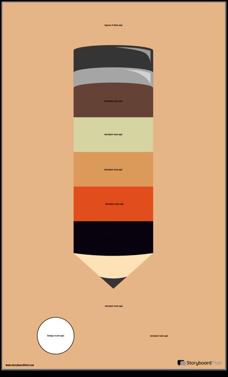 Infografía de Lápiz en Blanco