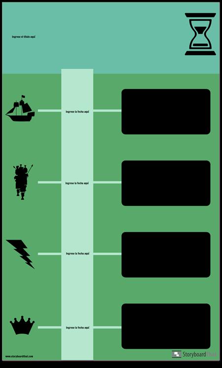 Infografía de Línea de Tiempo de Bloque