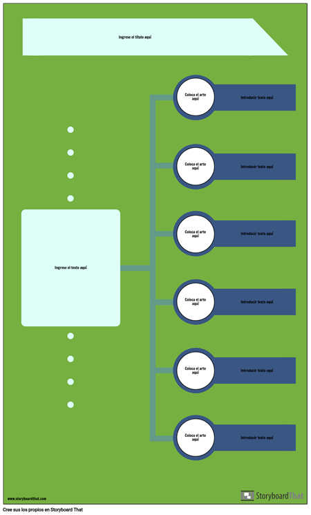 Infografía de Línea de Tiempo en Blanco