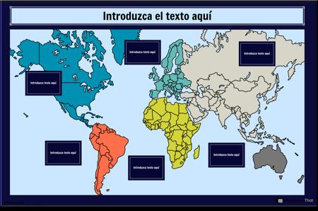 Infografía del Mapa del Mundo