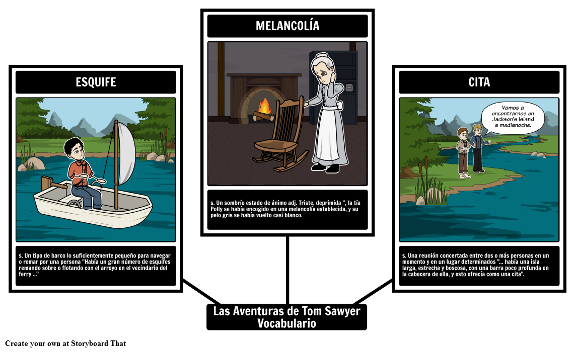 Las Aventuras de Tom Sawyer Vocabulario