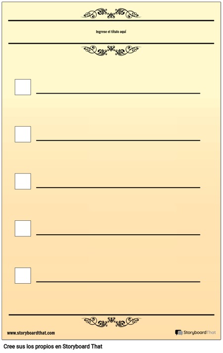 Lista de Comprobación Básica de 5 Comprobaciones