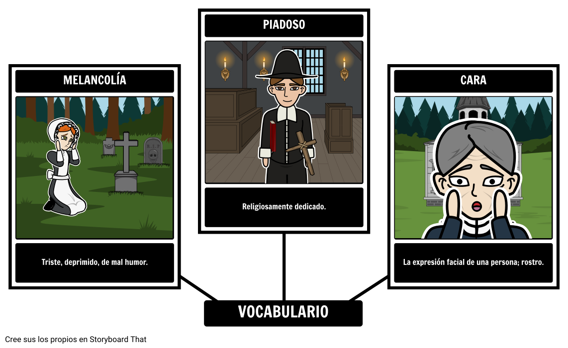 Organizador Gráfico del Vocabulario de Young Goodman Brown
