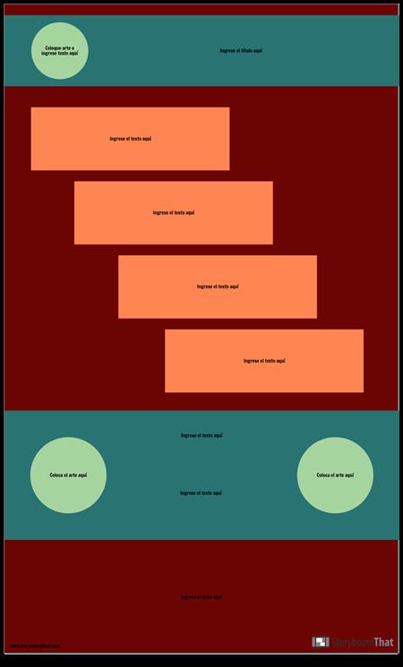 Paso Plantilla de Infografía en Blanco