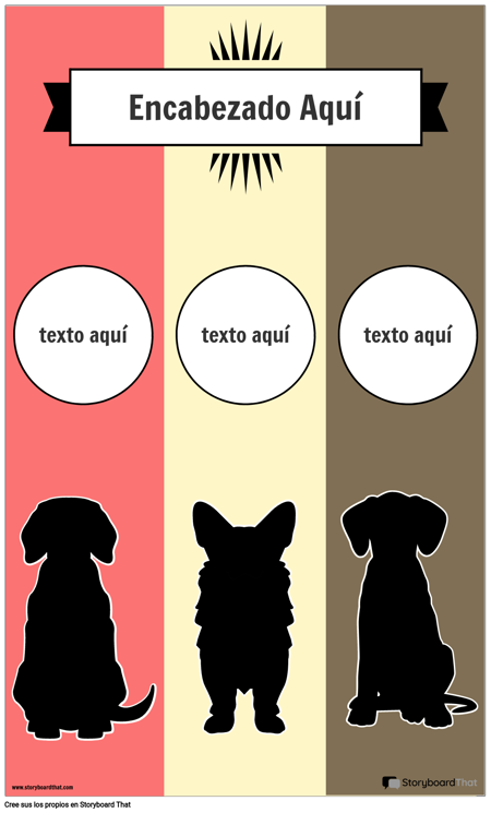 Plantilla de Infografía de 3 Columnas