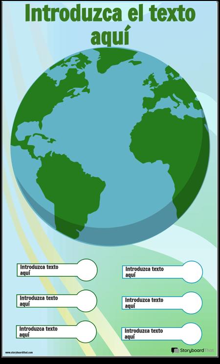 Plantilla de Infografía de la Tierra