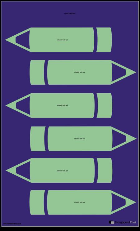 Plantilla de Infografía de Lápices