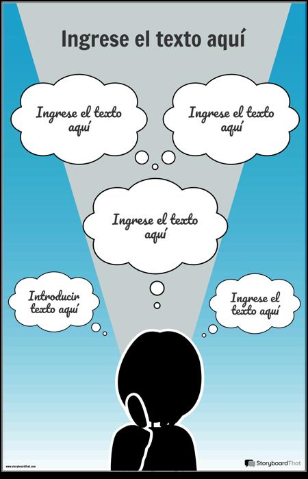 Plantilla de Infografía de Pensamientos