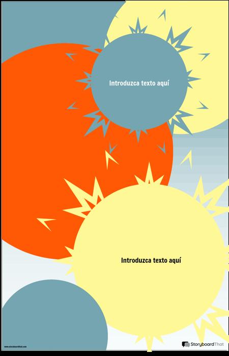 Plantilla de Infografía Sunburst