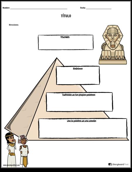 Plantilla de Pirámide de Vocabulario
