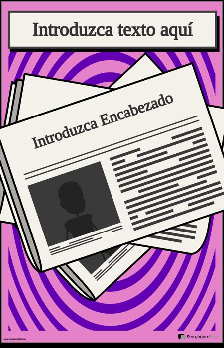 Plantilla de Póster de Titulares de Noticias