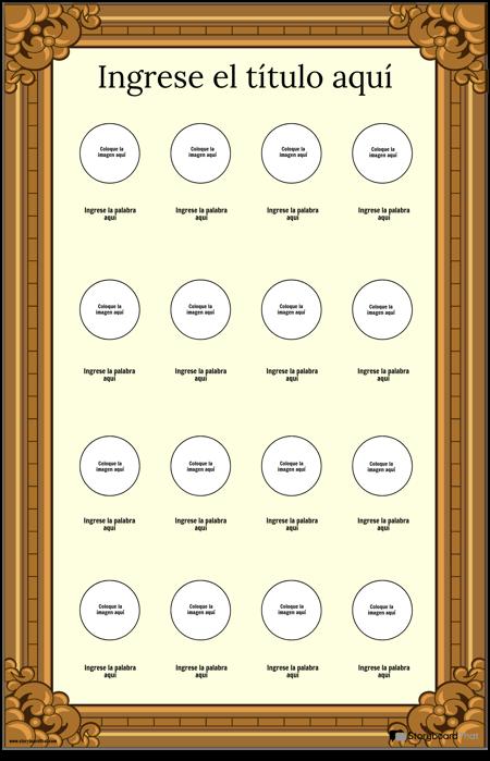 Póster de Vocabulario Visual Enmarcado