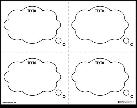 Tarjetas de Tareas de Burbujas de Pensamiento