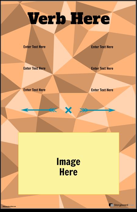 Vertikaalse Verbi Konjugatsiooni Plakat