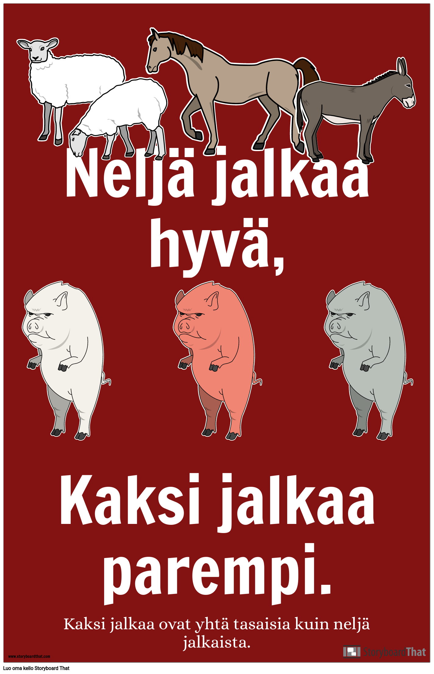 Animal Farm Propaganda -juliste