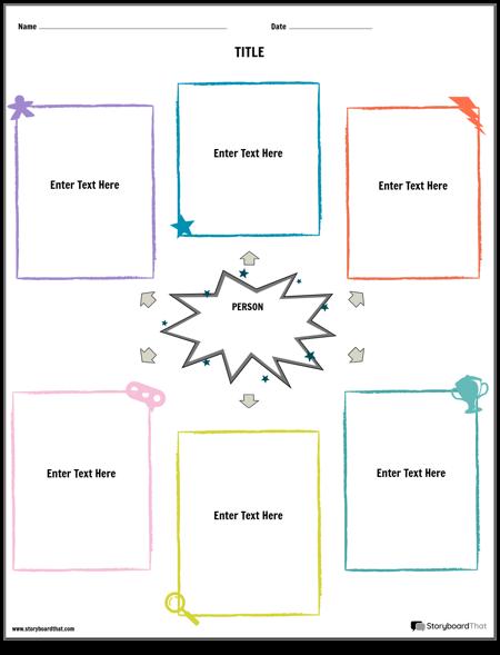 elämäkerta graafinen järjestäjän muotokuva