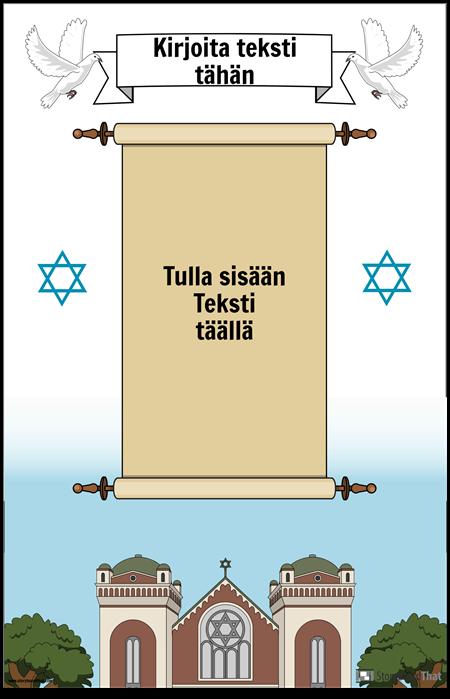 Juutalainen juliste vierittämällä