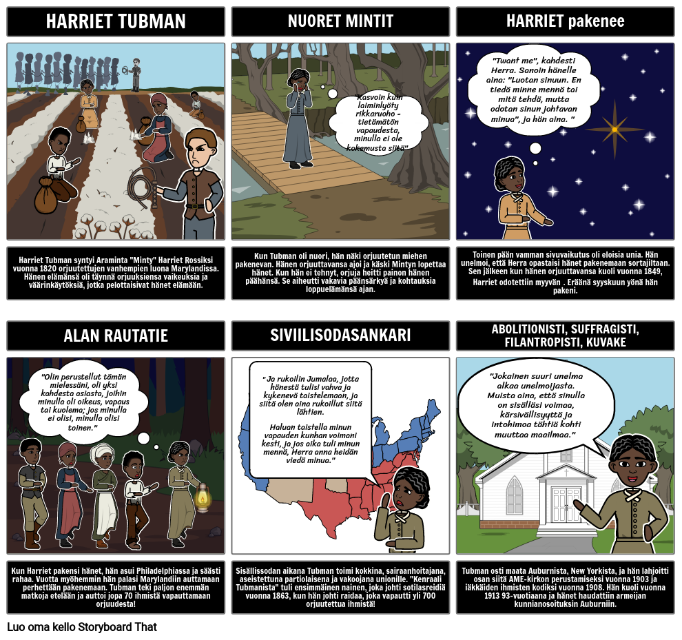 Orjuus: Harriet Tubman