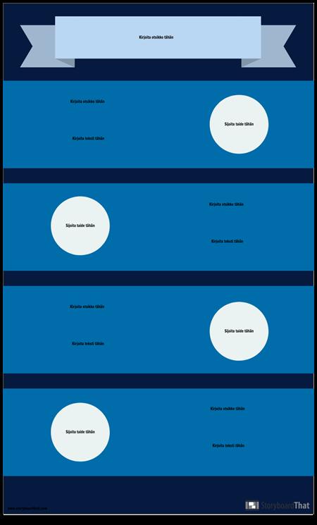 Sininen Infografinen Malli