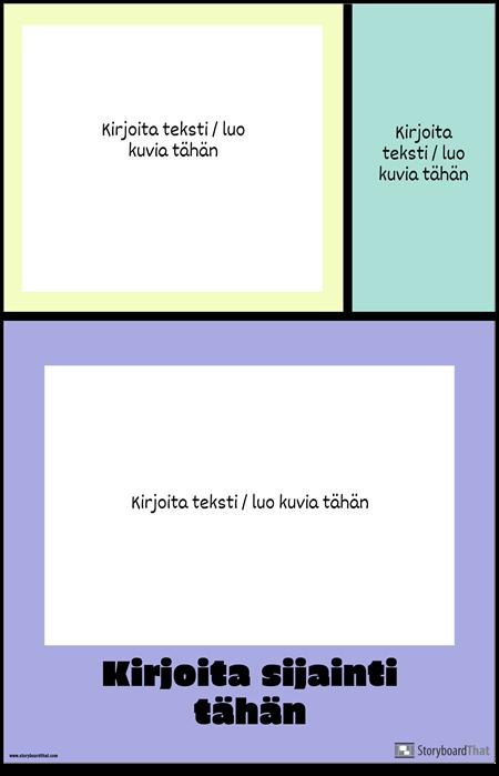 Värilohkot Travel Poster