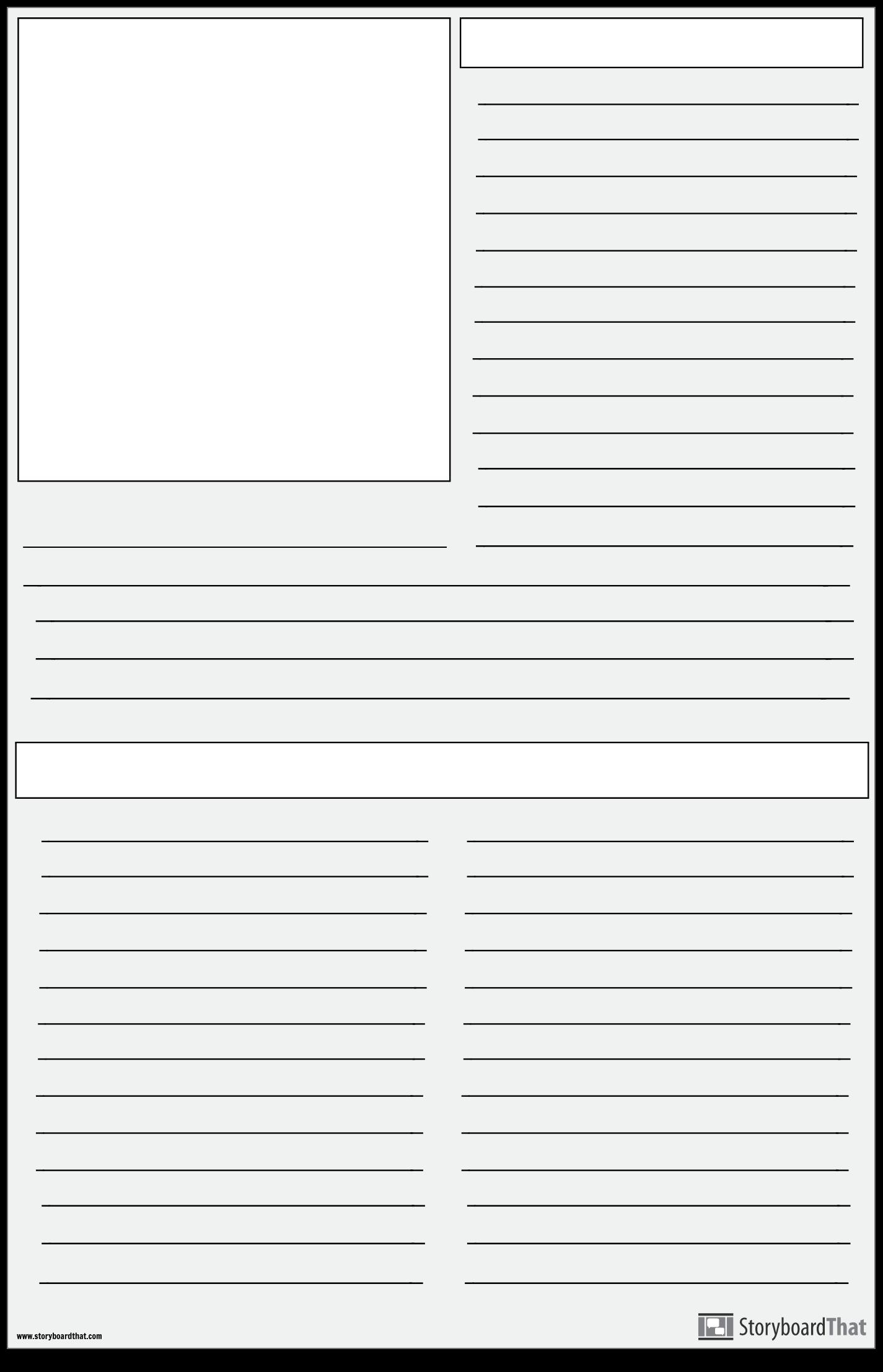 Faire un Projet de Journal | Modèle D'affiche de Journal