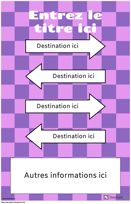 Affiche directionnelle avec flèches