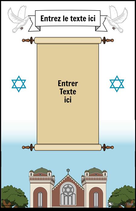 Affiche juive avec défilement