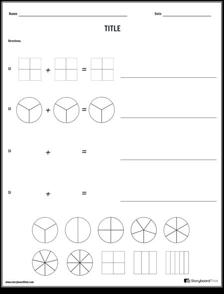 Ajout D'un Modèle de Fractions