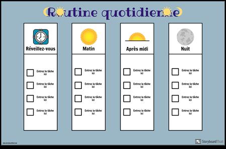 Graphique de Routine Quotidienne